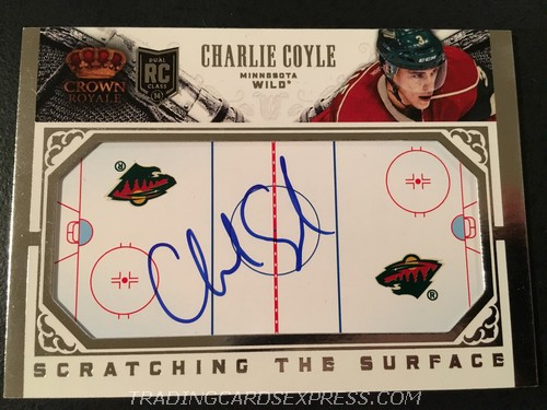 Charlie Coyle Wild 2013 2014 Panini Crown Royale Scratching The Surface Autograph Rookie Card SCCOY Front