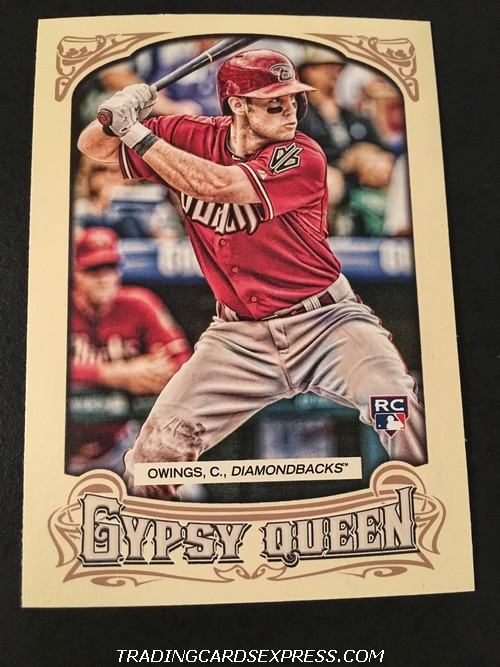 Chris Owings Diamondbacks 2014 Topps Gypsy Queen Rookie Card 26 Front