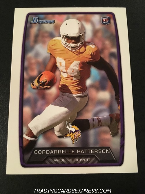 Cordarrelle Patterson Vikings 2013 Topps Bowman Rookie Card 171 Front
