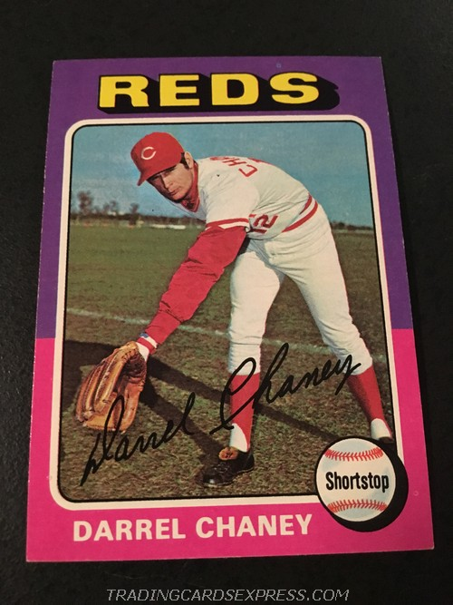 Darrel Chaney Reds 1975 Topps Mini 581 Front