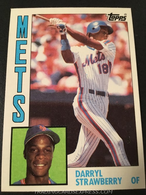 Darryl Strawberry Mets 1984 Topps Rookie Card 182 Front