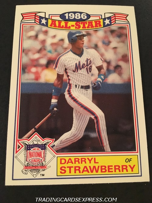 Darryl Strawberry Mets 1987 Topps All Star Game Commemorative Set 8 Front