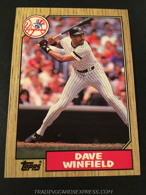 Dave Winfield Yankees 1987 Topps 770 Front