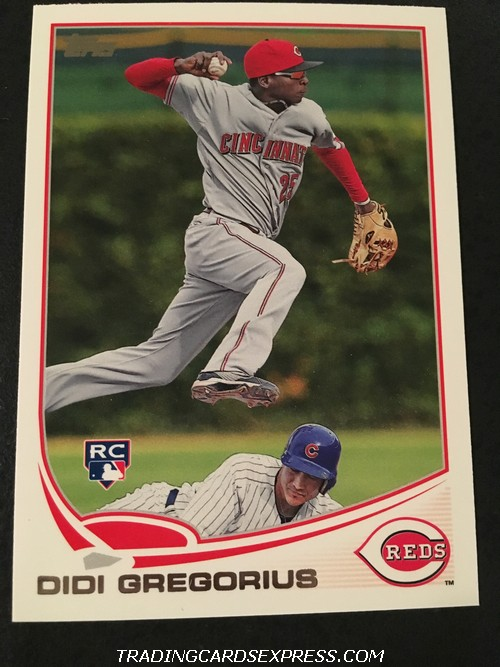 Didi Gregorius Reds 2013 Topps Rookie Card 296 Front
