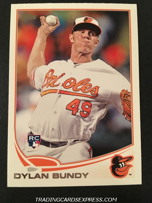 Dylan Bundy Orioles 2013 Topps Rookie Card 78 Front