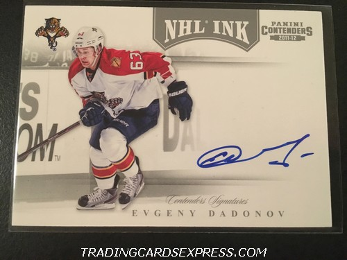 Evgeny Dadonov Panthers 2011 2012 Panini Contenders NHL Ink Autograph Card 21 Front