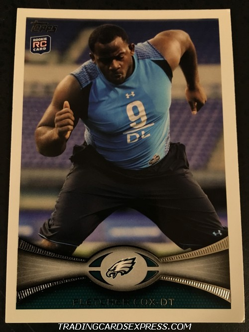 Fletcher Cox Eagles 2012 Topps Rookie Card 79 Front
