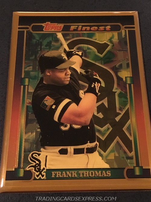 Frank Thomas White Sox 1995 Topps Finest Bronze 6 Front