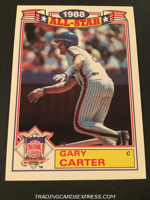 Gary Carter Mets 1989 Topps All Star Game Commemorative Set 20 Front