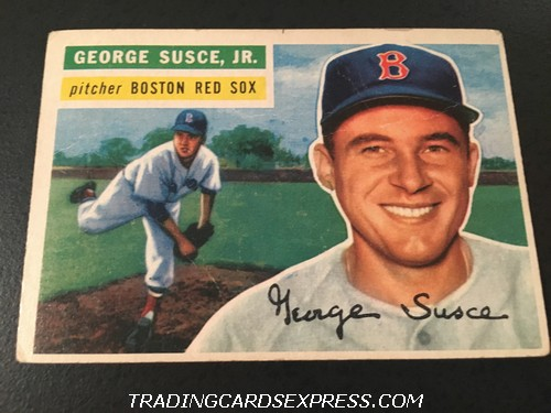George Susce Jr. Red Sox 1956 Topps 93 Front