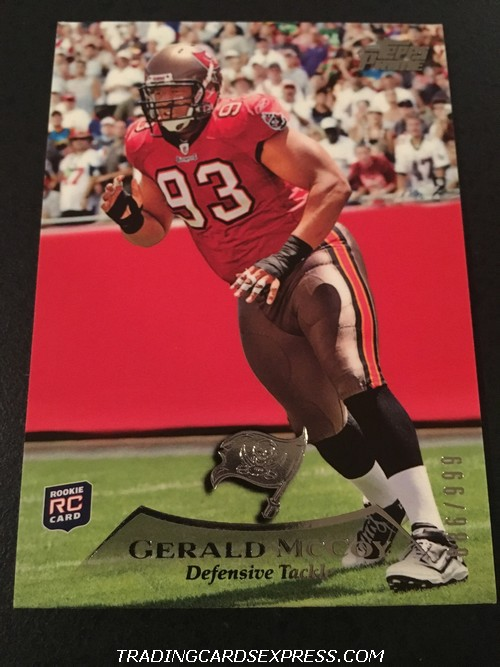 Gerald McCoy Buccaneers 2010 Topps Prime Rookie Card 49 886 999 Front