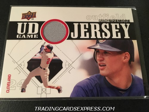 Grady Sizemore Indians 2010 Upper Deck UD Game Jersey Card UDGJGS Front