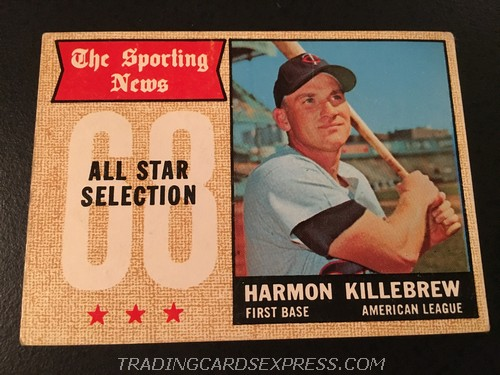 Harmon Killebrew Twins 1968 Topps All Star 361 Front
