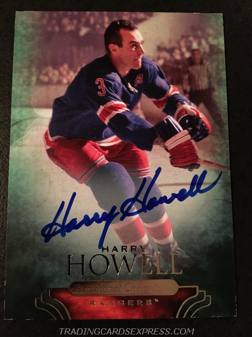 Harry Howell Rangers 2011 Parkhurst Champions Autograph Card 60 Front