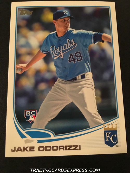 Jake Odorizzi Royals 2013 Topps Rookie Card 232 Front