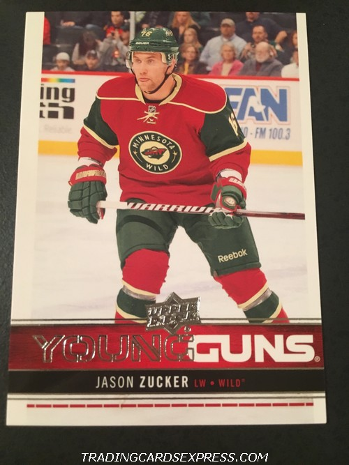Jason Zucker Wild 2012 2013 Upper Deck Young Guns Rookie Card 227 Front
