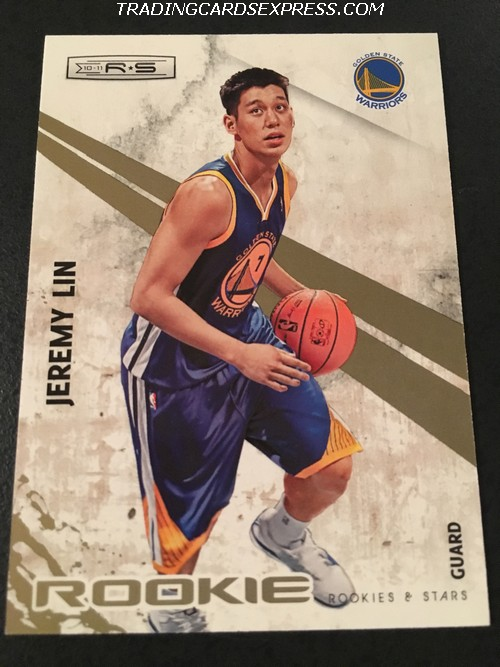 Jeremy Lin Warriors 2010 2011 Panini Rookie Stars Gold Rookie Card 129 188 499 Front