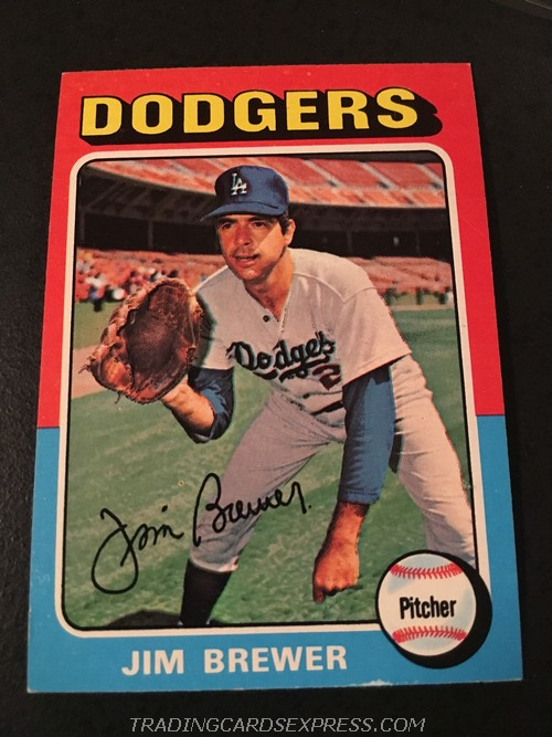 Jim Brewer Dodgers 1975 Topps Mini 163 Front