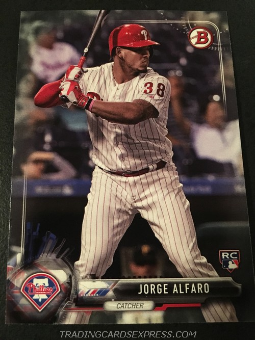 Jorge Alfaro Phillies 2017 Topps Bowman Rookie Card 60 Front
