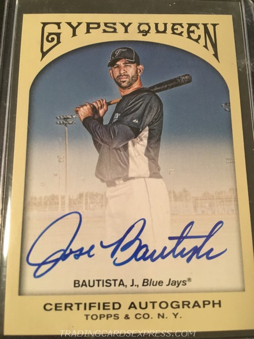 Jose Bautista Blue Jays 2011 Topps Gypsy Queen Autograph GQAJB Front