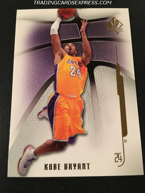 Kobe Bryant Lakers 2008 2009 SP Authentic 89 Front