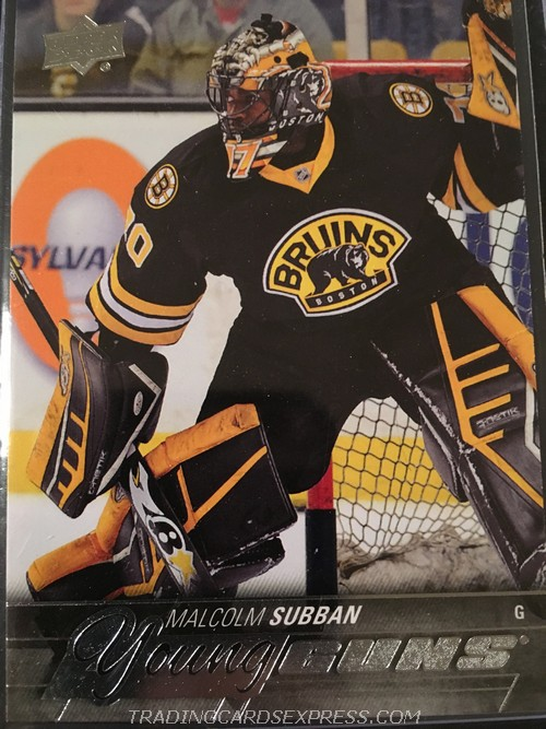 Malcolm Subban Bruins 2015 2016 Upper Deck Young Guns Rookie Card 211 Front