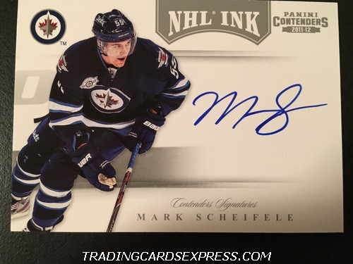 Mark Scheifele Jets 2011 2012 Panini Contenders NHL Ink Autograph Card 69 Front