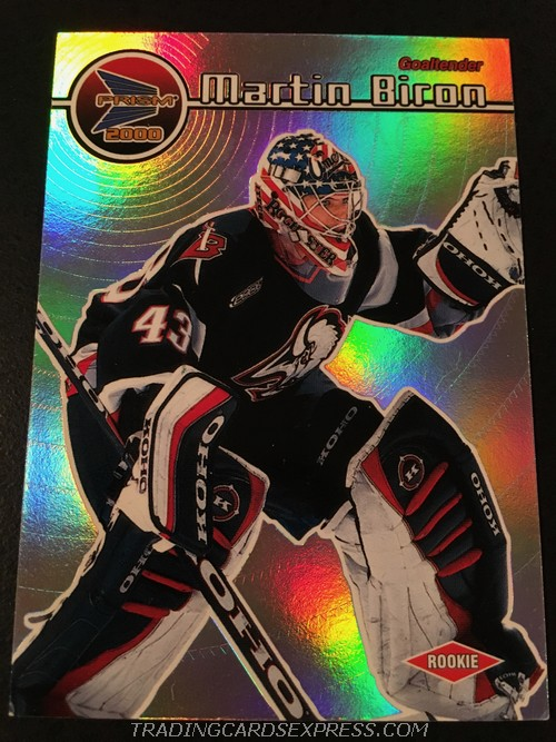 Martin Biron Sabres 1999 2000 Pacific Prism Rookie Card 17 Front