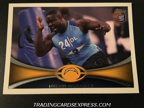 Melvin Ingram Chargers 2012 Topps Rookie Card 22 Front