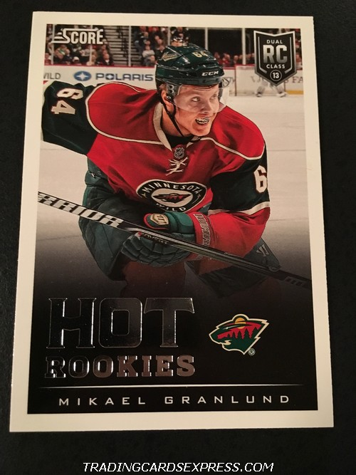 Mikael Granlund Wild 2013 2014 Panini Score Hot Rookies Card 649 Front