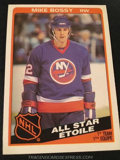 Mike Bossy Islanders 1984 1985 O Pee Chee All Star 209 Front
