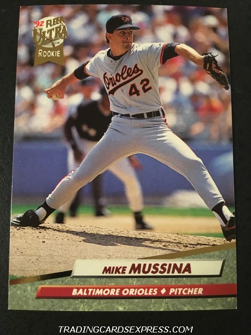 Mike Mussina Orioles 1992 Fleer Ultra Rookie Card 9 Front