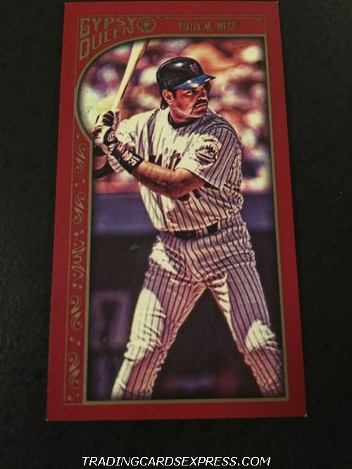 Mike Piazza Mets 2015 Topps Gypsy Queen Red Mini 124 10 50 Front