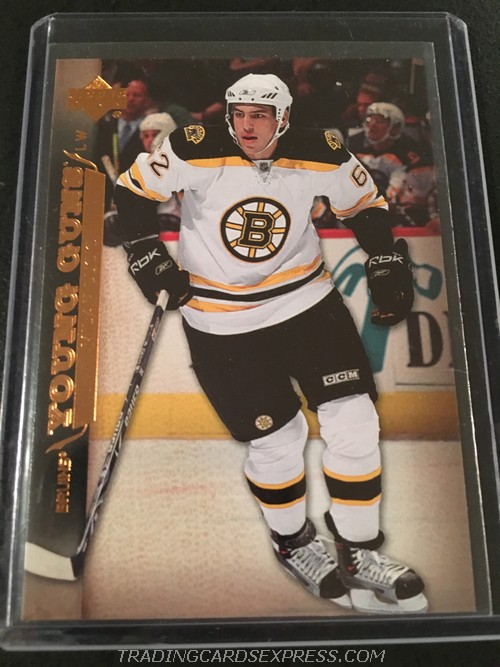 Milan Lucic Bruins 2007 2008 Upper Deck Young Guns Rookie Card 207 Front