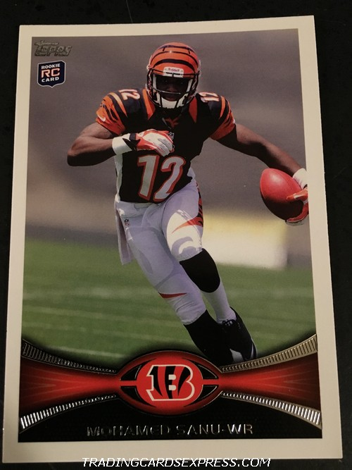 Mohamed Sanu Bengals 2012 Topps Rookie Card 151 Front