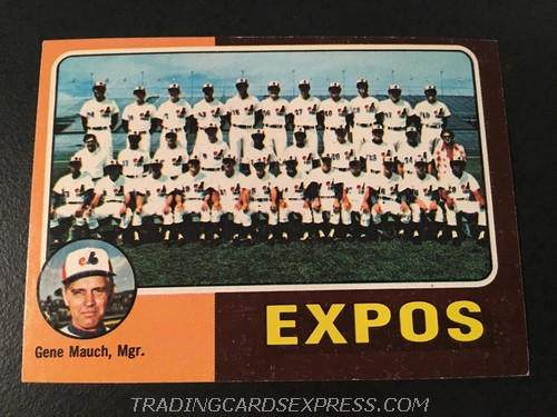 Montreal Expos Team Checklist 1975 Topps Mini 101 Front