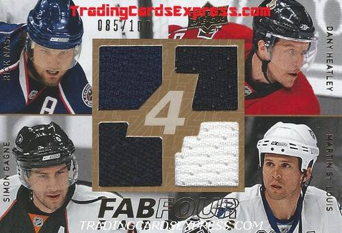 Nash Heatley Gagne St. Louis Card FF WNG UD Series 1 2008 2009 Front