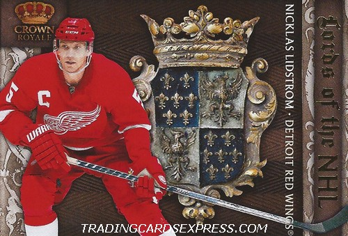 Nicklas Lidstrom Card 10 Panini Crown Royale 2010 2011 Front