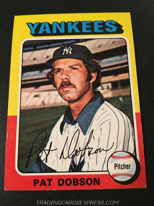 Pat Dobson Yankees 1975 Topps Mini 44 Front