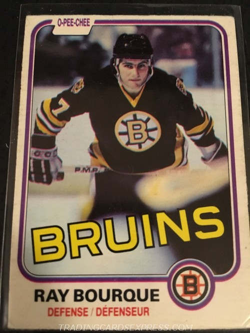 Ray Bourque Bruins 1981 1982 O Pee Chee 1 Front