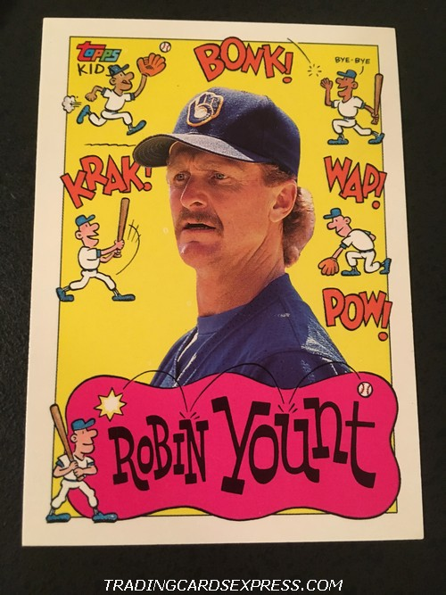 Robin Yount Brewers 1992 Topps Kids 80 Front