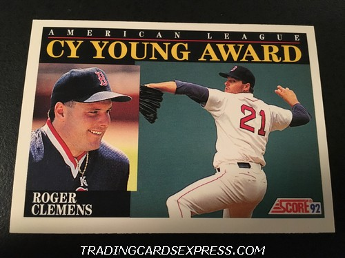 Roger Clemens Red Sox 1992 Score AL CY Young Award 790 Front