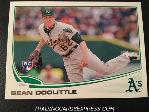 Sean Doolittle Athletics 2013 Topps Rookie Card 85 Front