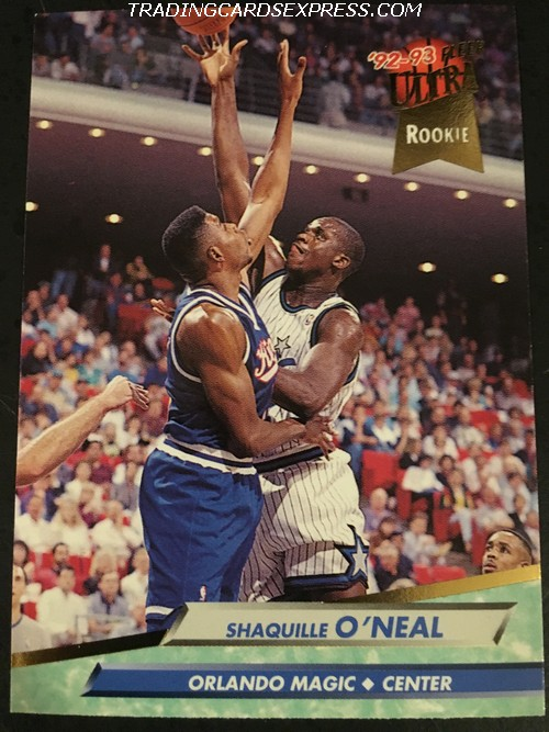 Shaquille O'Neal Magic 1992 1993 Fleer Ultra Rookie Card 328 Front