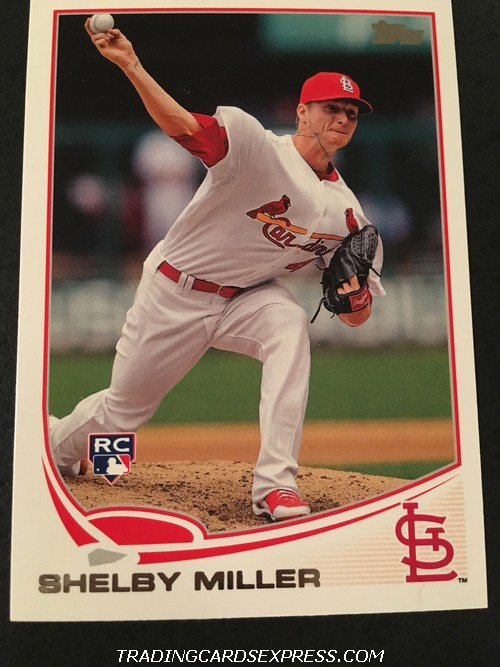 Shelby Miller Cardinals 2013 Topps Rookie Card 305 Front