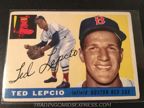 Ted Lepcio Red Sox 1955 Topps 128 Front
