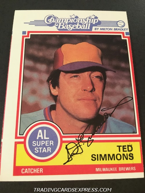 Ted Simmons Brewers 1984 Topps Milton Bradley NNO Front