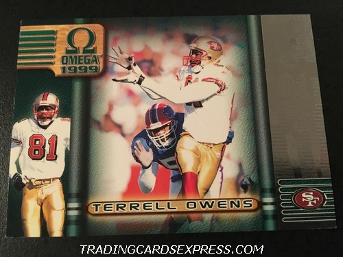 Terrell Owens 49ers 1999 Pacific Omega Sample Front