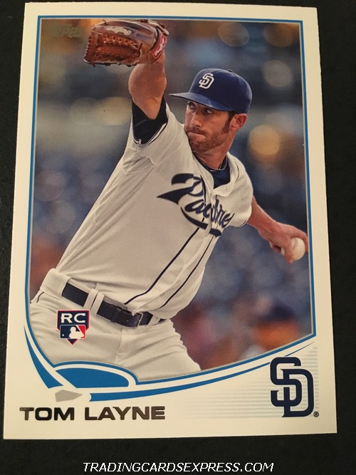Tom Layne Padres 2013 Topps Rookie Card 290 Front