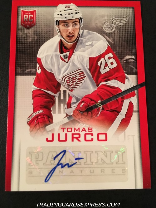 Tomas Jurco Red Wings 2013 2014 Panini Expo Signatures Autograph Rookie Card TJ Front